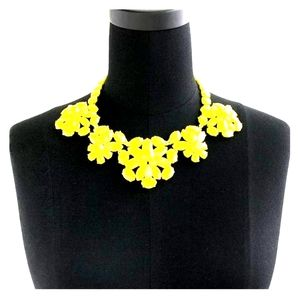 Yellow Crystal Cluster Necklace